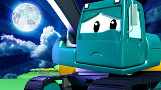 Car Patrol -  Edgar The Excavator Saw a Mysterious Light in The Woods! - Car City ! Trucks Cartoons