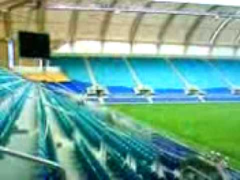 "Ten news clip of the new Gold Coast ""Skilled Park"" stadium."