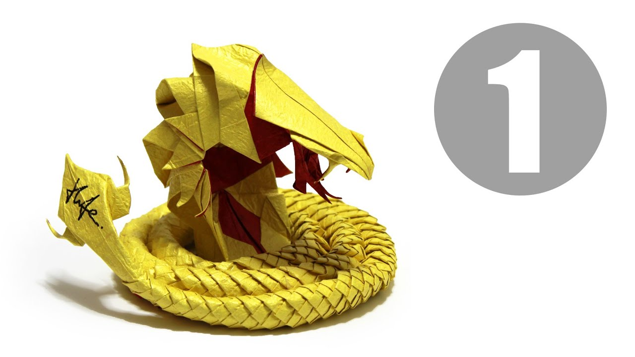 Part1/5 : How to fold Origami Devil Cobra / Hell Cobra ... - photo#4