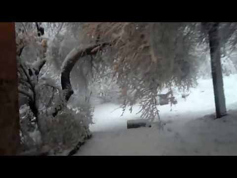 Последствия снежной метели в Украине. Весна 2017. Consequences of a snowstorm in Ukraine.