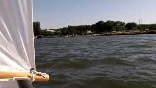 Dinghy sailing at Redwood City, CA, USA