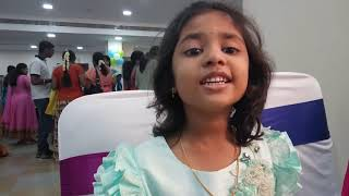 Making kid share her experience about the birthday party of her cute little sister Contact 900308719