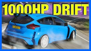 Forza Horizon 4 Customization : 1000 Horsepower Widebody Ford Focus RS Drift Build!!