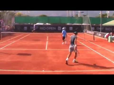 Rafael Nadal's practice at Rio Open 2015 // Rafa