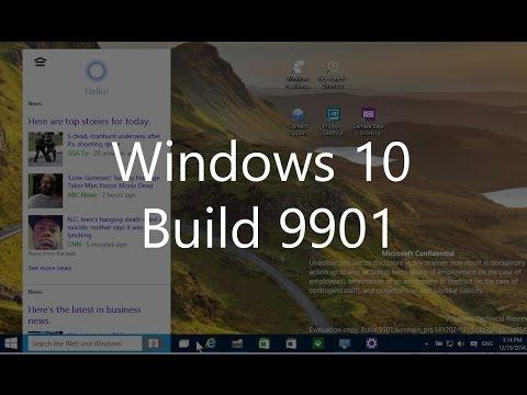 Windows 10 Build 9901: Cortana, new apps, updated taskbar, Settings and more