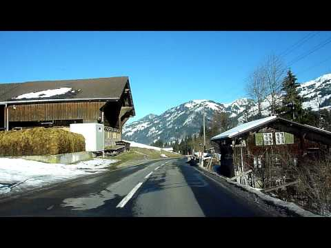 Switzerland 112 (Camera on board): Saanen (BE)-Zweisimmen by Schönried, Saanenmöser