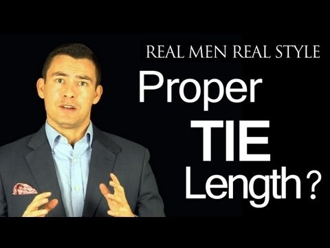 proper tie length where should the necktie tip fall