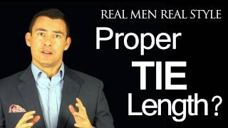 Proper Tie Length - Where should the necktie tip fall?  Proper Tie Length