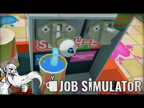 """""""I'M A STORE CLERK! THANK YOU COME AGAIN!!!""""  Job Simulator HTC Vive Virtual Reality (VR) Game!"""