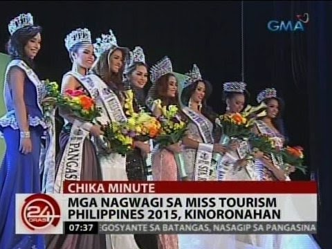 24 Oras: Mga nagwagi sa Miss Tourism Philippines 2015, kinoronahan