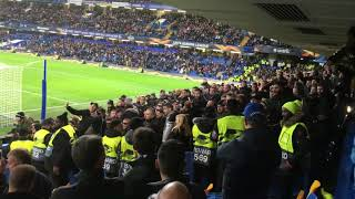 Chelsea and PAOK fans brawl Europa league 29/11/2018