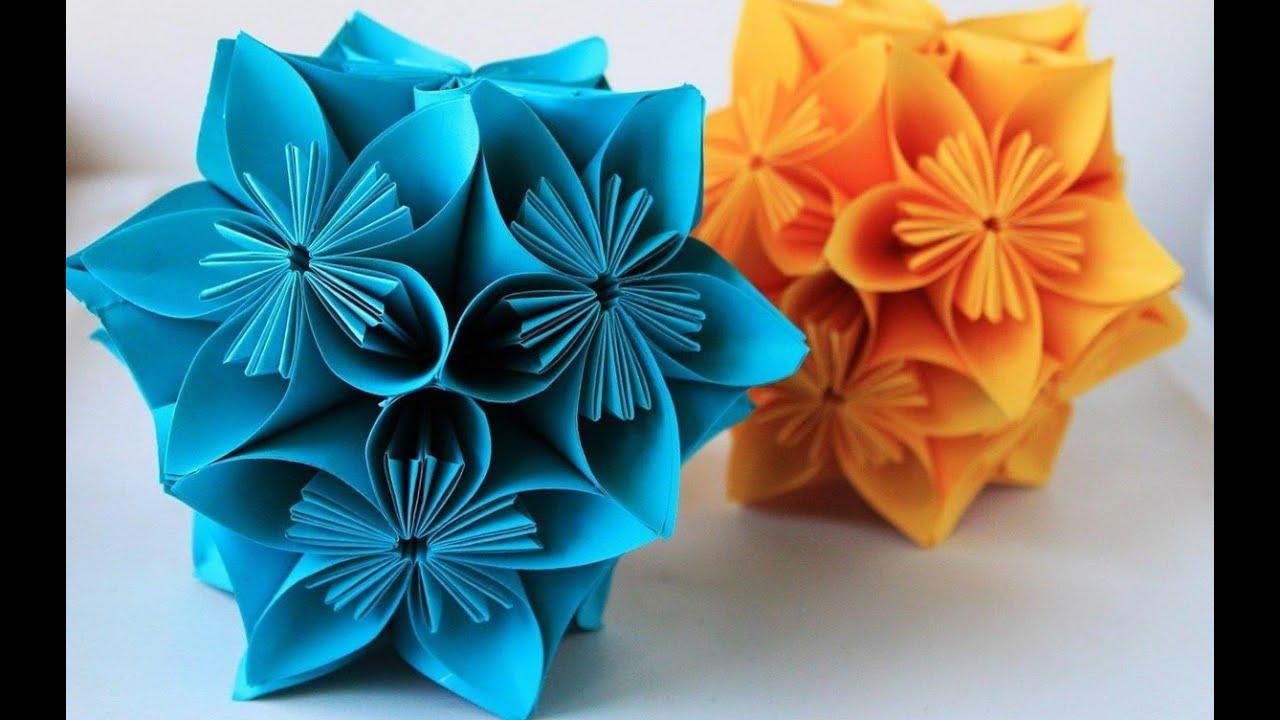 Как из бумаги сделать цветок с ножкой