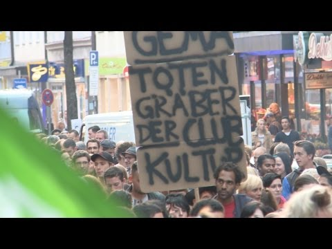 Demonstration gegen Gema-Erhhung
