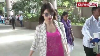 Tamanna spotted at Mumbai airport | Spotted Diaries| The Laddu