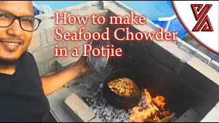 How to Make Seafood Chowder in a Potjie over a fire