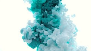 Abstract Background of Green Acrylic Paint in Water | Stock Footage - Videohive
