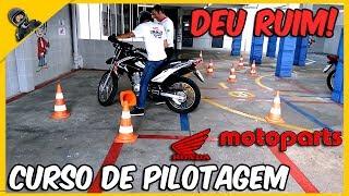 CURSO DE PILOTAGEM AULA PRATICA NA HONDA MOTOPARTS