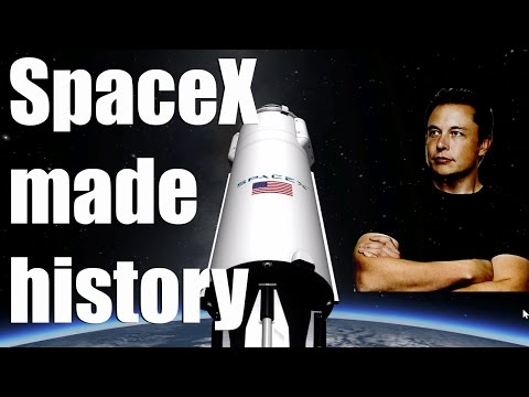 SpaceX barge landing makes history - Learn about Falcon 9 and Elon Musk