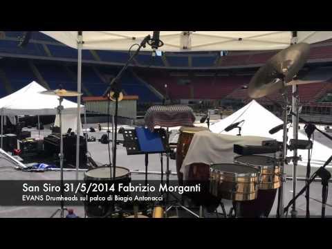 SAN SIRO 31/05/2014 Fabrizio Morganti … EVANS Drumheads sul palco di Biagio Antonacci!