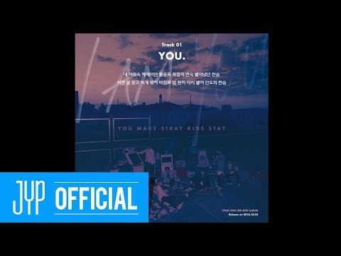 "Stray Kids 〈I am YOU〉 Inst. Lyric Card 1 ""YOU."""