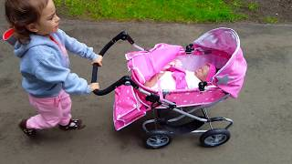 Baby Doll Pink Stroller / The best fake baby reaction video !Silicone Baby