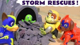 Paw Patrol Mighty Pups storm rescues fun  toy story with the funny Funlings