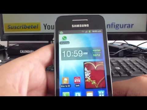 como ver el porcentaje de bateria en samsung Galaxy ace S5830 español Full HD