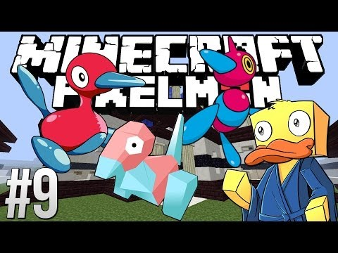 Minecraft Pixelmon PORYGON Evolutions! (Minecraft Pixelmon Multiplayer Pokemon Mod)