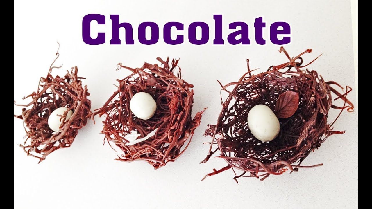 Chocolate Nest Chocolate Decoration How To Cook That Ann