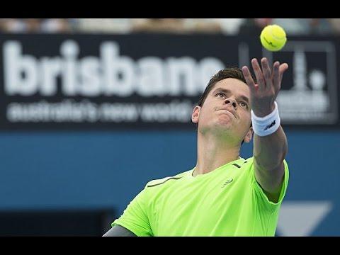Milos Raonic v Kei Nishikori highlights (semifinals) - Brisbane International 2015