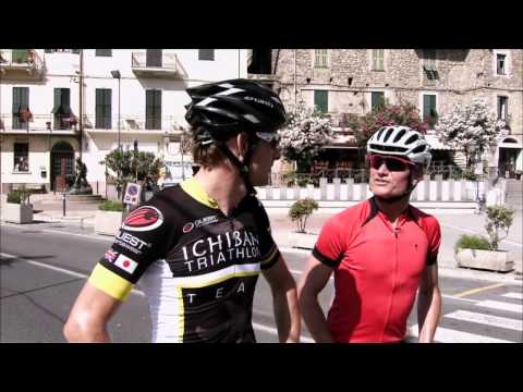 Jenson Button and David Coulthard Cycling[BBC British Grand Prix Pre-Show]