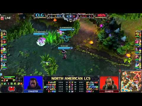 Counter Logic Gaming (CLG) vs Team MRN (MRN) - League of Legends LCS 2013 NA