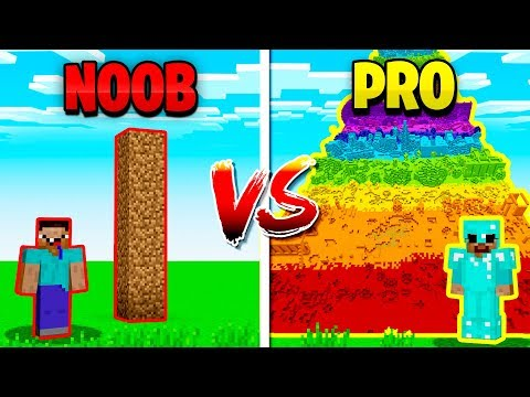 MINECRAFT NOOB vs PRO TALLEST TOWER!