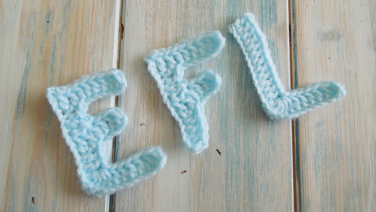 Crochet Blanket With Letters How to Crochet Letters e