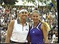 Gabriela Sabatini vs. Anna Kournikova exhibición Buenos Aires 2000