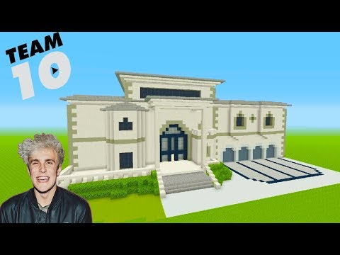 Minecraft Tutorial: How To Make Jake Pauls NEW House 'Team 10 House'