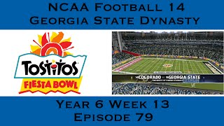 NCAA Football 14 Georgia State Dynasty Year 6 Tostitos Fiesta Bowl vs  #14 Colorado | EP81