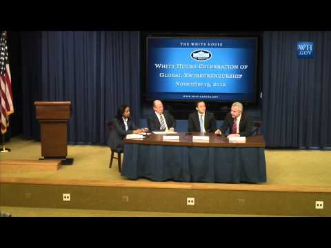 Driss R. Temsamani at The White House on Entrepreneurship and Diaspora