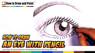 How to Draw an Eye with Pencil - Draw People | CC
