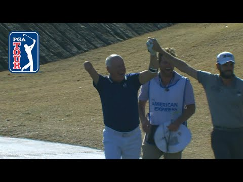 One-armed golfer's hole-in-one at The American Express 2020