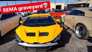 DESTROYED SEMA BUILD LAMBORGHINIS & SELLING MY SUPRA!