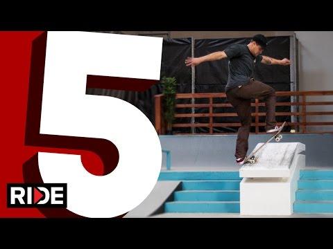 Jordan Hoffart's 5 Favorite Hubba Tricks