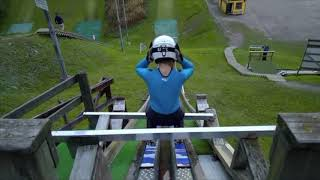 First time jumping from K15 ski jump in Lahti