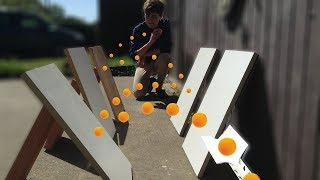 Ping Pong Trick Shots  │ Dude Perfect ( Challenge )