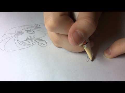 Видео как нарисовать девушки Эквестрии Флатершай