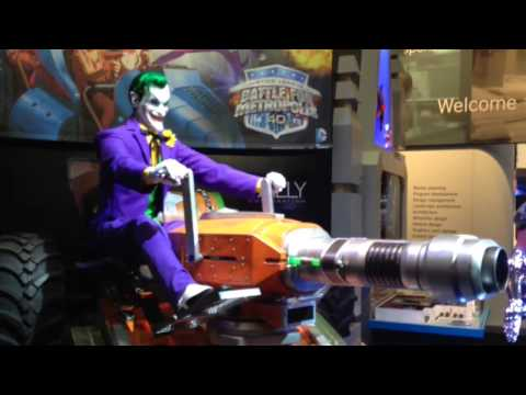 Joker Animatronic Unveiled For Justice League Ride At Six Flags video
