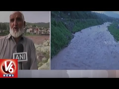 Jammu And Kashmir: Heavy Rainfall Causes Overflow Of River In Rajouri | V6 News