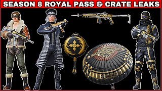 SEASON 8 ROYAL PASS LEAK PUBG MOBILE & NEW UPCOMMING CRATES LEAK PUBG MOBILE