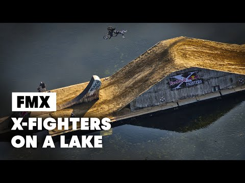 First ever FLOATING freestyle motocross course - Red Bull X-Fighters Munich 2014