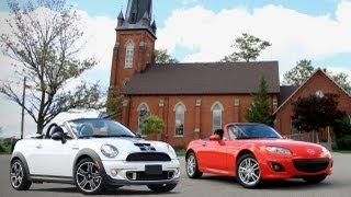 2012 Mazda MX-5 Miata vs. 2013 MINI Roadster Cooper S